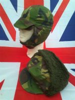 DUTCH MILITARY ARMY CAMO COLD WEATHER HAT WITH PULL DOWN SIDES